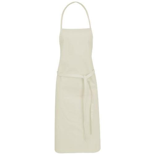 Reeva cotton apron with tie-back closure in khaki