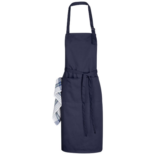 Zora apron with adjustable neck strap in navy