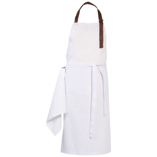 Longwood apron in white-solid