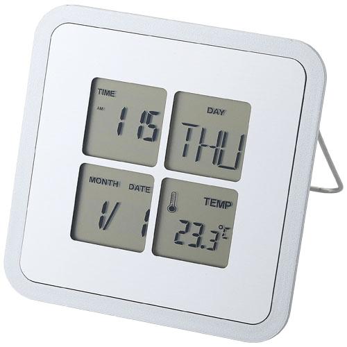 Livorno desk clock with temperature