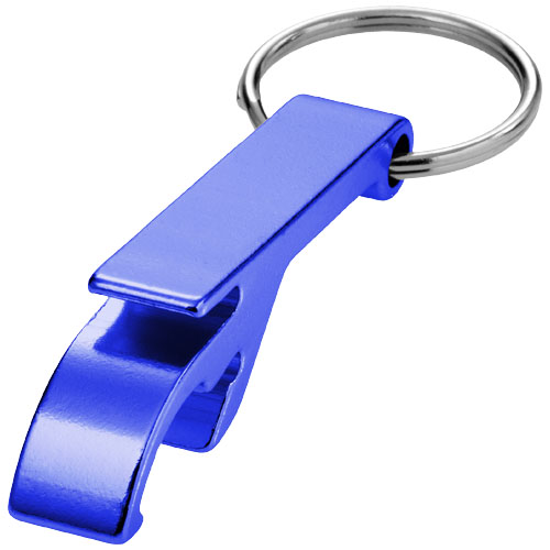 Tao bottle and can opener keychain in blue