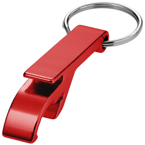Tao bottle and can opener keychain in red
