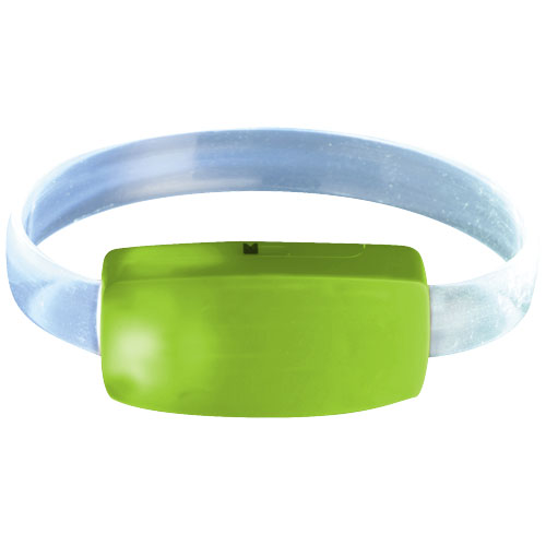Raver wrist strap in lime-and-transparent