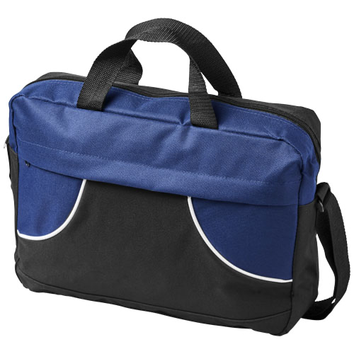 Chicago conference bag in black-solid-and-red