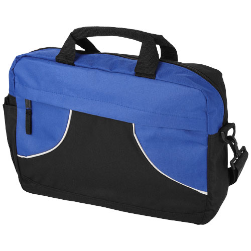 Chicago conference bag in black-solid-and-blue