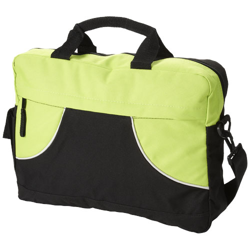 Chicago conference bag in black-solid-and-lime