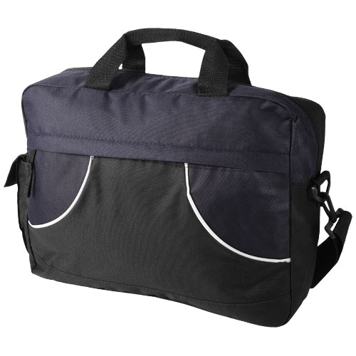 Chicago conference bag in black-solid-and-navy