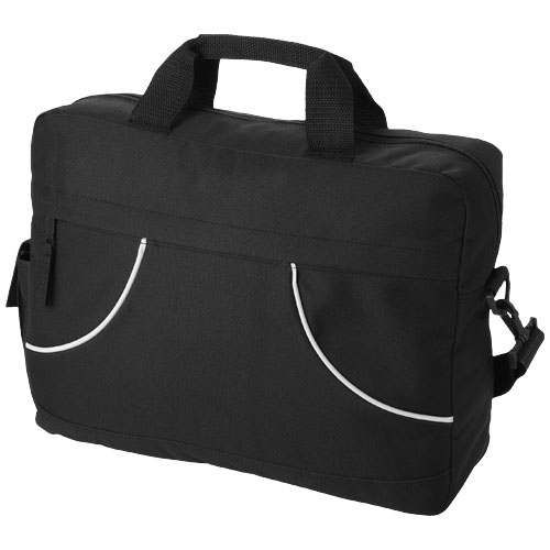 Chicago conference bag in black-solid