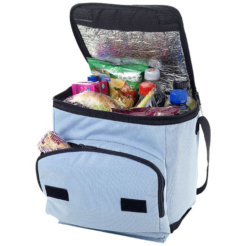 Stockholm foldable cooler bag in ocean-blue