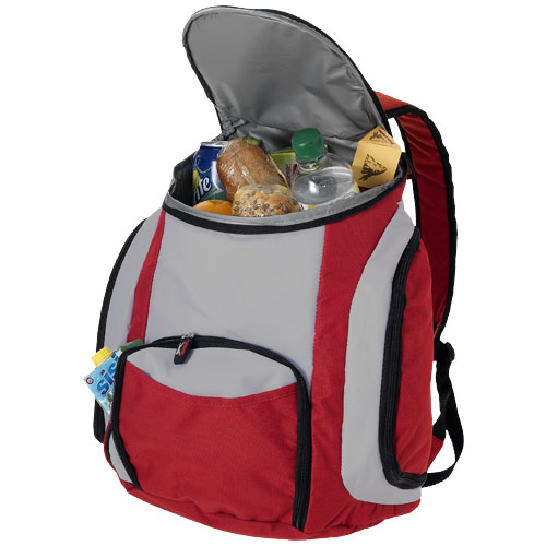 Brisbane cooler backpack in red-and-grey