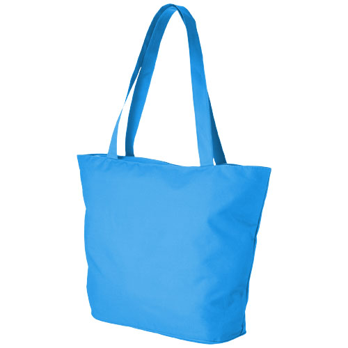 Panama zippered tote bag in process-blue
