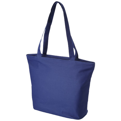 Panama zippered tote bag in royal-blue