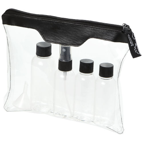 Munich airline approved travel bottle set in transparent