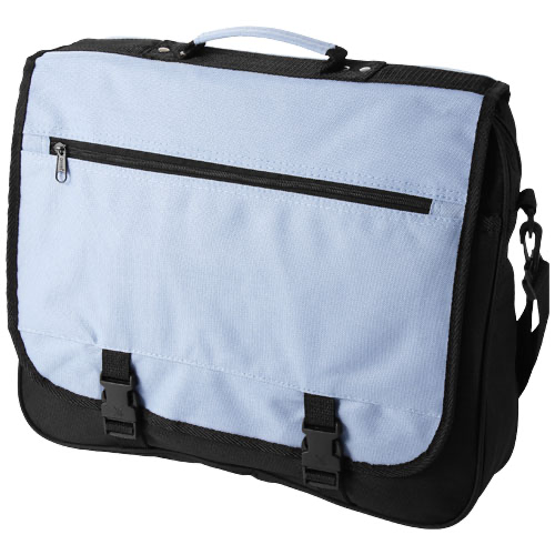 Anchorage 2-buckle closure conference bag in white-solid