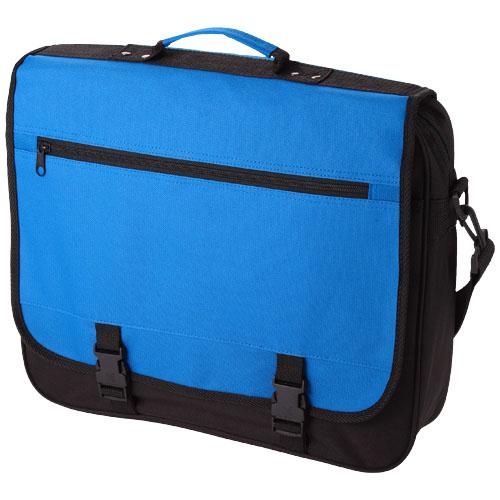 Anchorage 2-buckle closure conference bag in aqua-blue