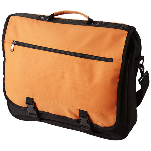 Anchorage 2-buckle closure conference bag in orange