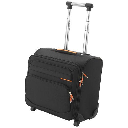 Orange Line Business Bag On Wheels in black-solid