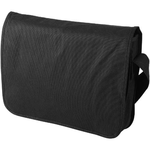 Mission non-woven messenger bag in white-solid