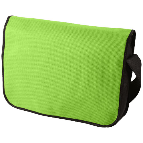 Mission non-woven messenger bag in lime