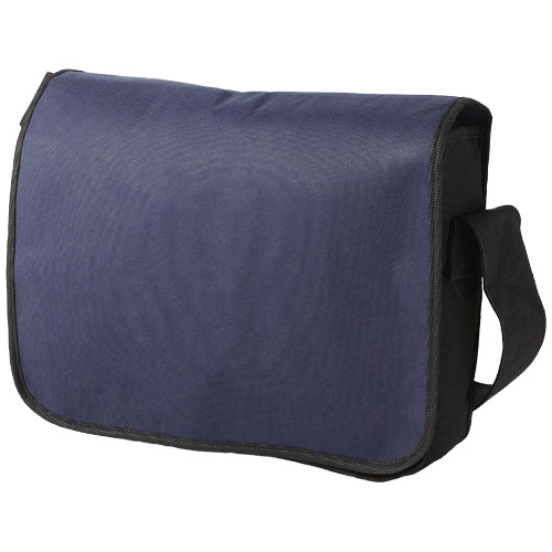 Mission non-woven messenger bag in navy