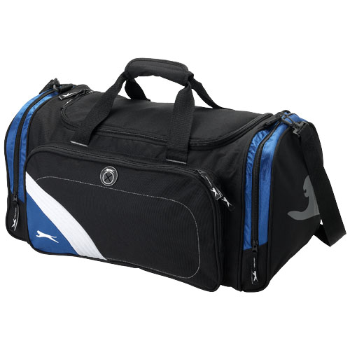 Wembley sports bag in black-solid-and-blue