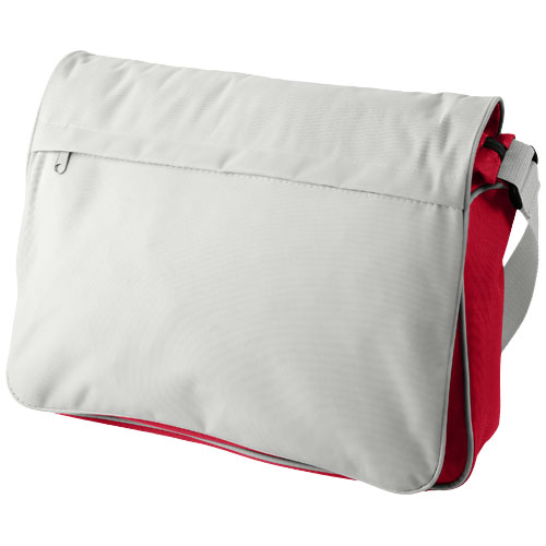 Vermont messenger bag in grey-and-red