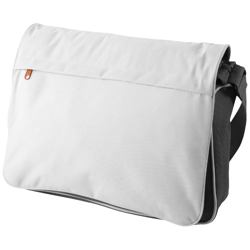 Vermont messenger bag in white-solid-and-grey