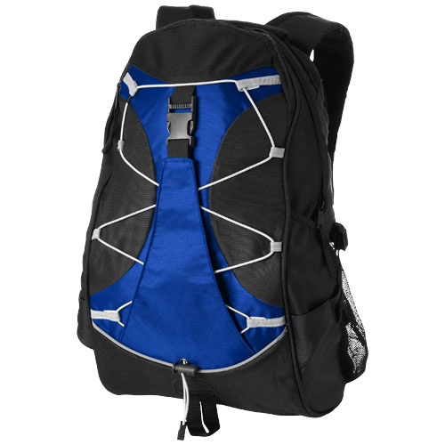 Hikers elastic bungee cord backpack in royal-blue