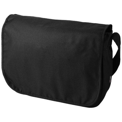 Malibu messenger bag in black-solid