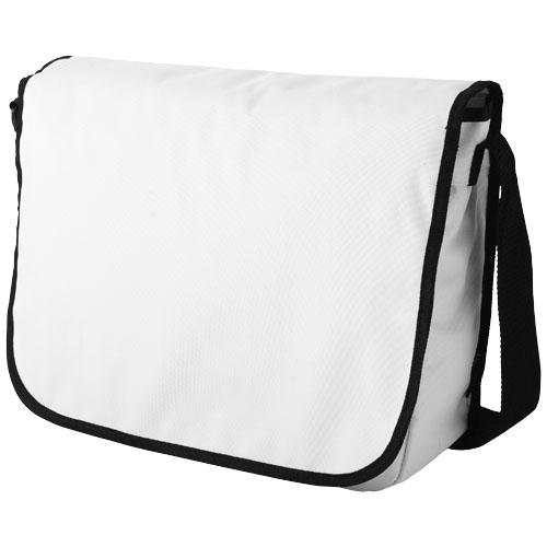 Malibu messenger bag in white-solid