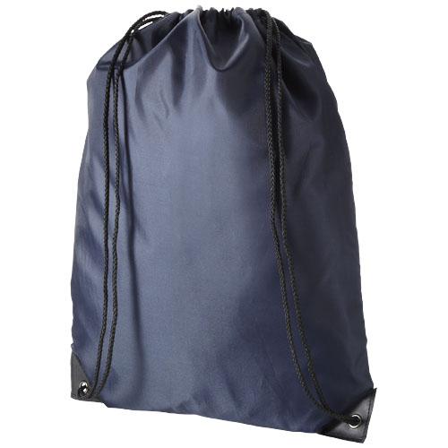 Oriole premium drawstring backpack in navy