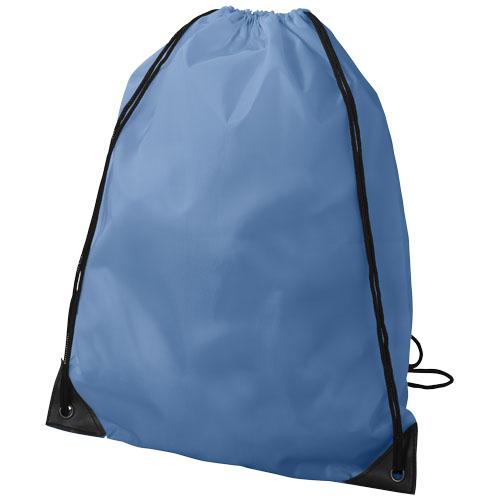 Oriole premium drawstring backpack in ocean-blue