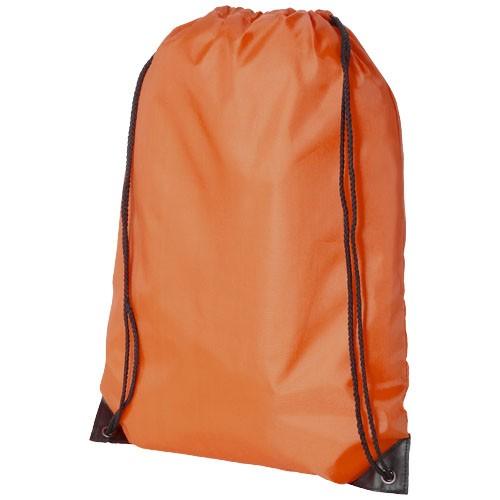 Oriole premium drawstring backpack in orange