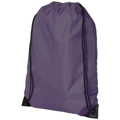 Oriole premium drawstring backpack in plum