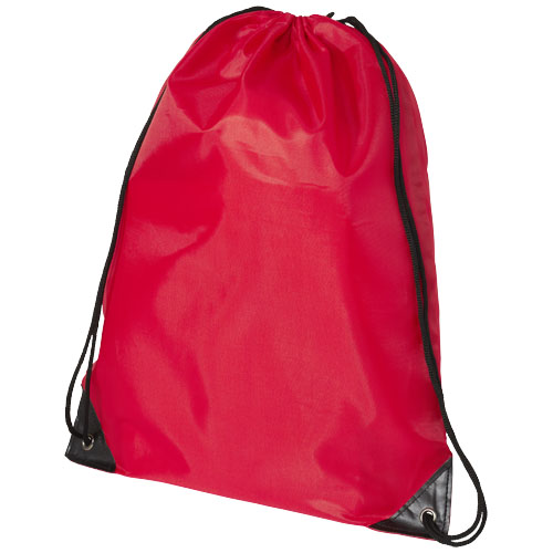 Oriole premium drawstring backpack in red