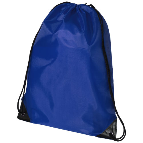 Oriole premium drawstring backpack in royal-blue