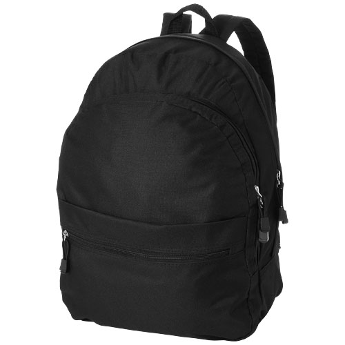 Trend 4-compartment backpack in black-solid