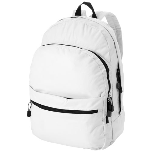 Trend 4-compartment backpack in white-solid