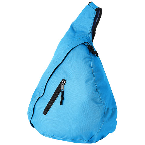 Brooklyn mono-shoulder backpack in aqua-blue