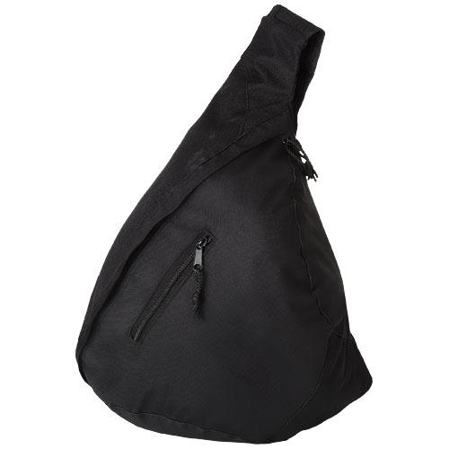 Brooklyn mono-shoulder backpack in black-solid