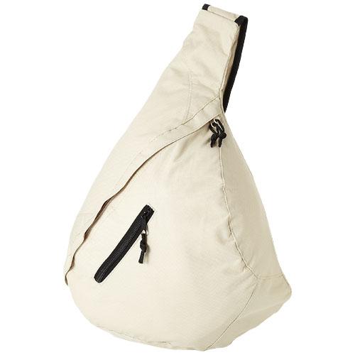 Brooklyn mono-shoulder backpack in ecru