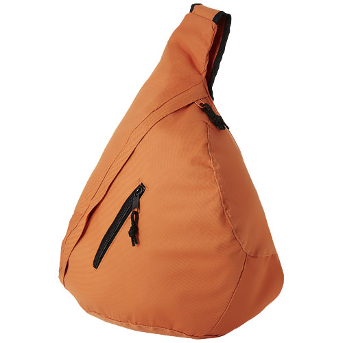 Brooklyn mono-shoulder backpack in orange