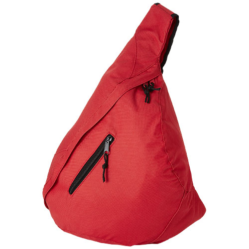 Brooklyn mono-shoulder backpack in red