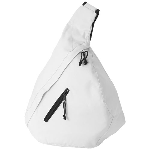 Brooklyn mono-shoulder backpack in white-solid