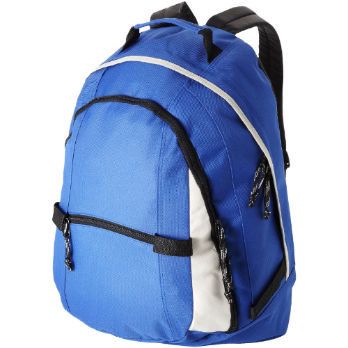 Colorado covered zipper backpack in white-solid