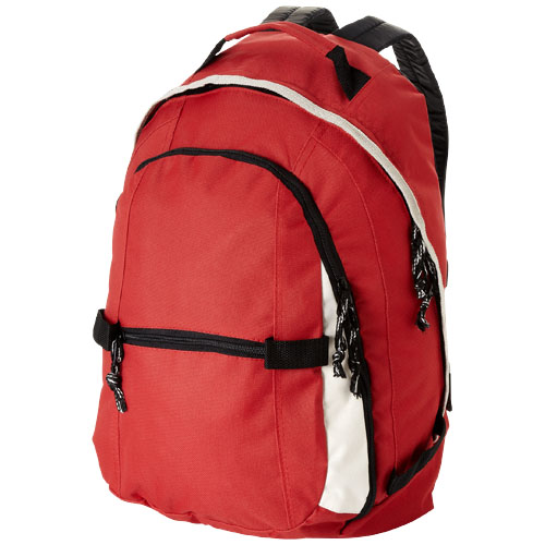 Colorado covered zipper backpack in red