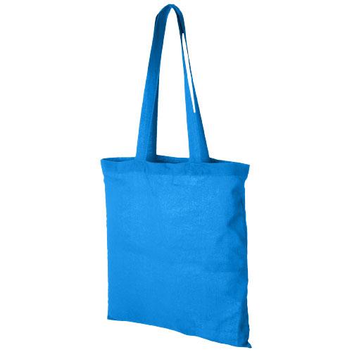 Carolina 100 g/m² cotton tote bag in aqua-blue
