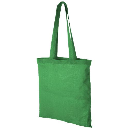 Carolina 100 g/m² cotton tote bag in bright-green