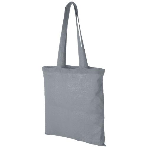 Carolina 100 g/m² cotton tote bag in grey
