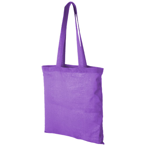 Carolina 100 g/m² cotton tote bag in lavender